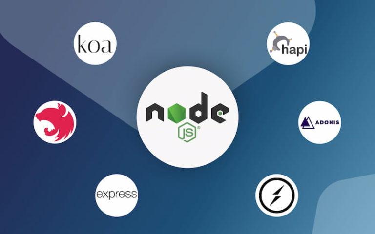most used Node.js frameworks